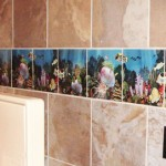 custom printed accent tiles
