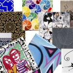 Retro or Funky Art Ceramic Tiles