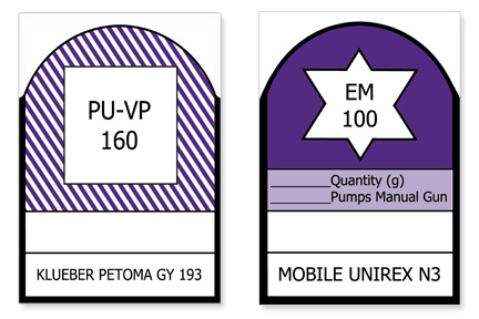 Small Lubrication Grease Labels