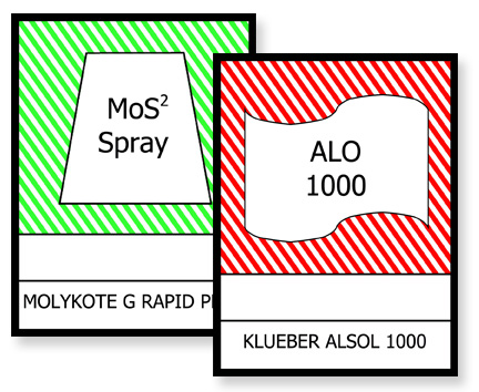Small lubrication labels for your plant