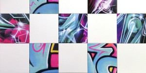 graffiti ceramic wall tiles