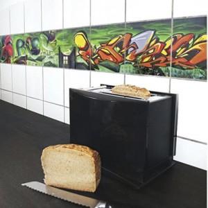 feature tile kitchen