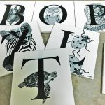 printed designer art tiles