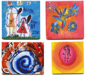 Children's art tiles