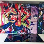 custom graffiti splashback tiles