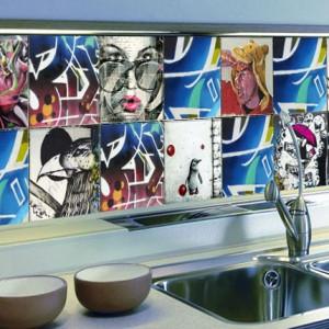 Splashback kitchen tiles