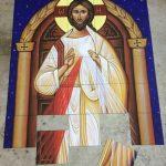 large tile mural for church