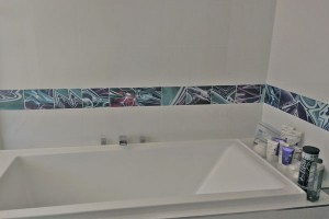 graffiti tiles for bathroom