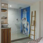 custom tile mural for shower