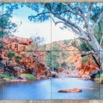 custom photo tile mural
