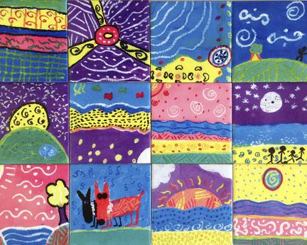 Interior Ceramic Tiles With Kids Art Jennoli Art