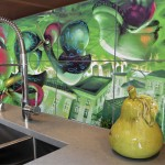 custom graffiti kitchen tiles