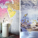 printed bathroom tiles