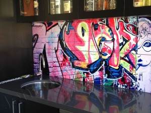 colourful splashback mural