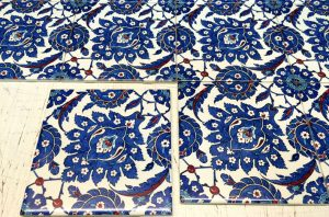 printed old patterned tiles