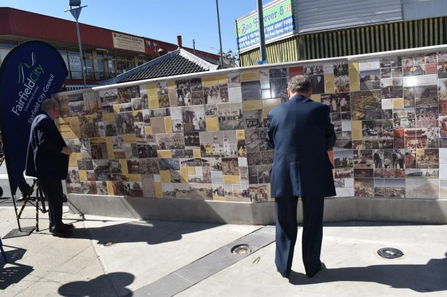 public mural using bespoke exterior tiles