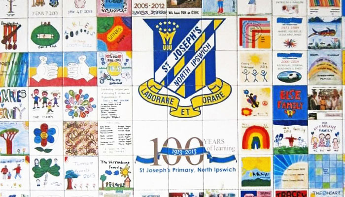 school wall murals for tile fundraiser