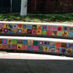 School Stairs decorated with art tiles