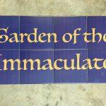 ceramic signage for garden
