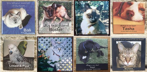 Outdoor Memorial Tiles for Pets