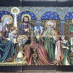 printed religious tiles