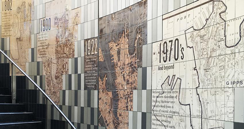 outdoor tile mural sydney