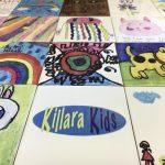 Kindergarten art tiles
