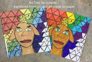 Commemorative art tiles