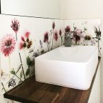 custom printed floral tiles