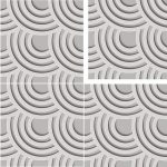 Tile Panels 3D Wallpaper style