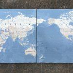 World Map Tile Panel 2x450x450mm