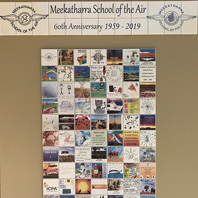 School Tile Wall for school of air