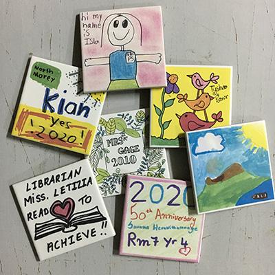 Kids Art School tile walls