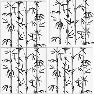 Wallpaper Tile Panels Bamboo