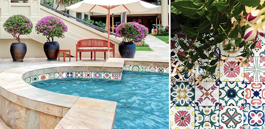 Decorative pool tiles