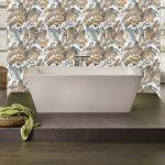 Wallpaper Tile Panels Tropical Tiles