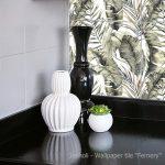 Wallpaper Tile Panel Fernery in Bathroom