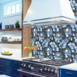 Wallpaper Tile Panel Protea Blue